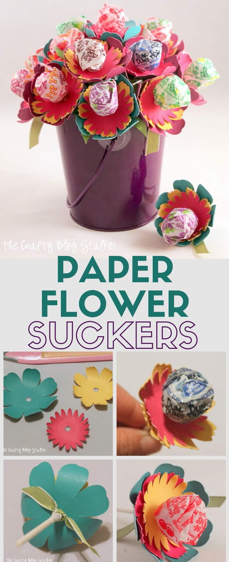 Paper flower suckers