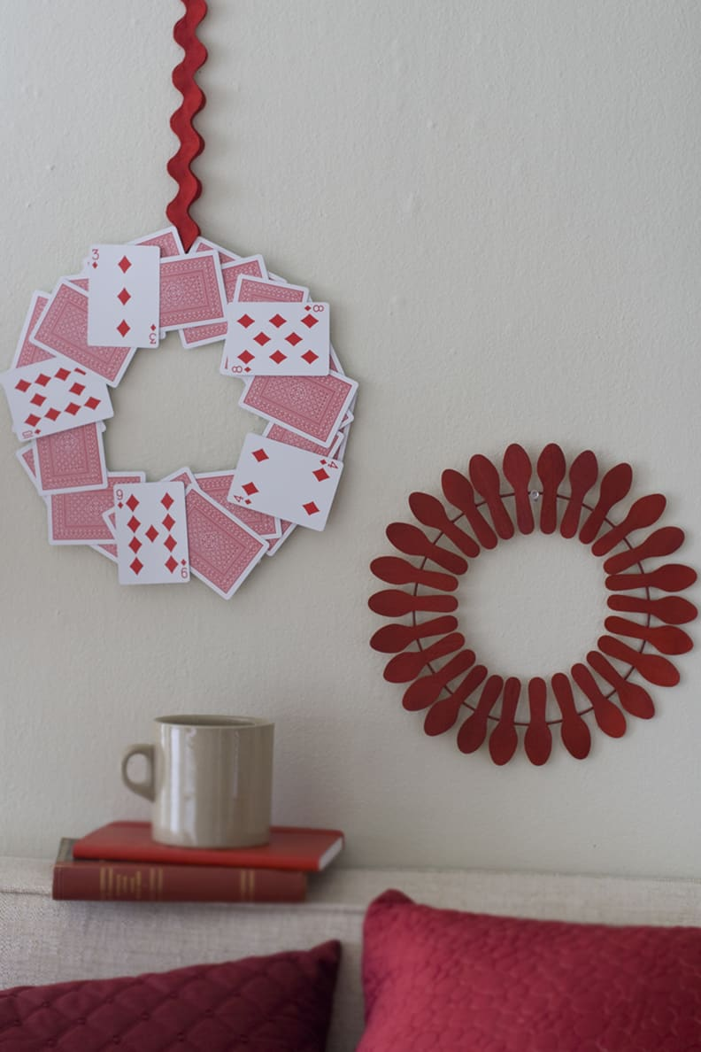 Playing card wreath