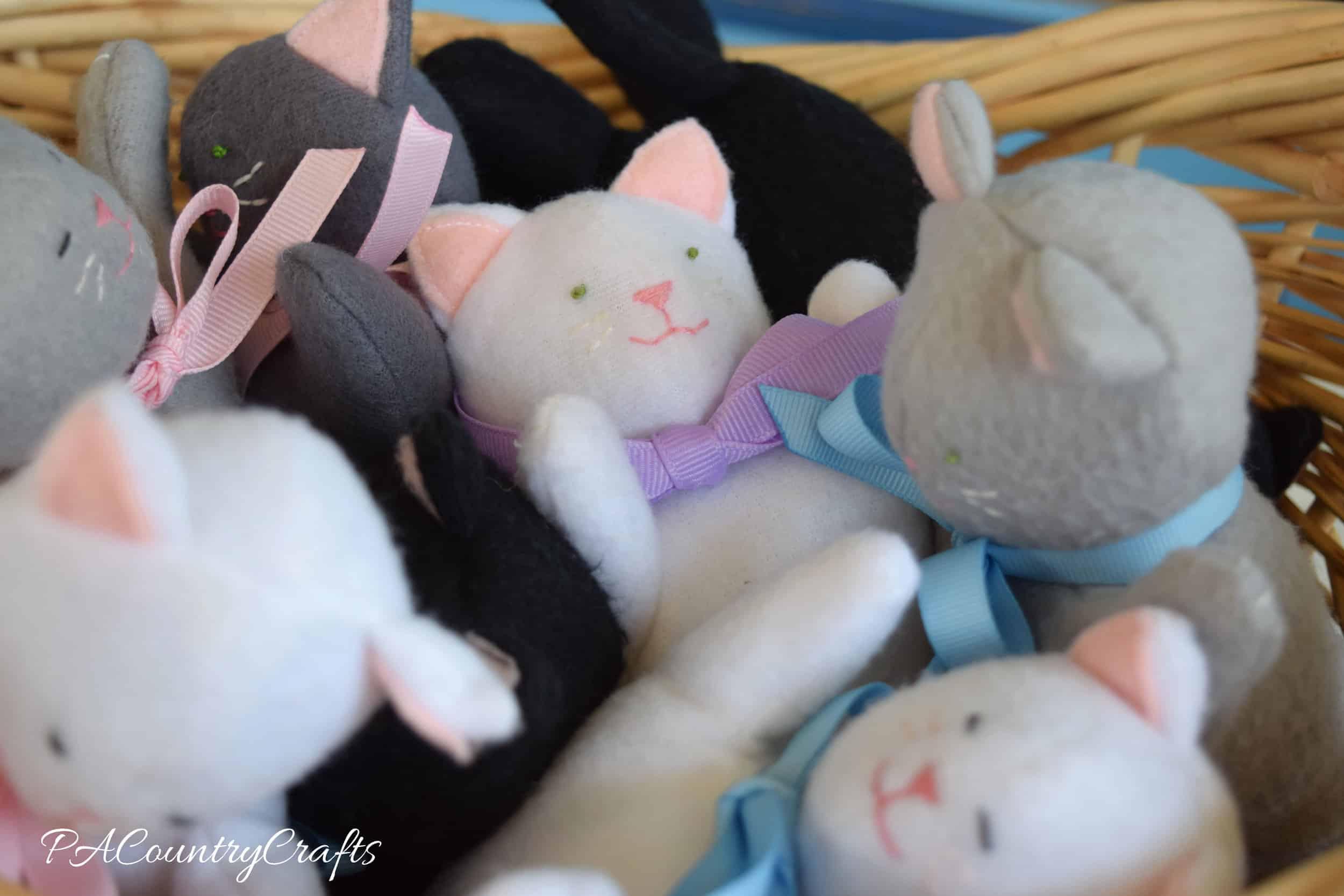 Plush fleece kittens