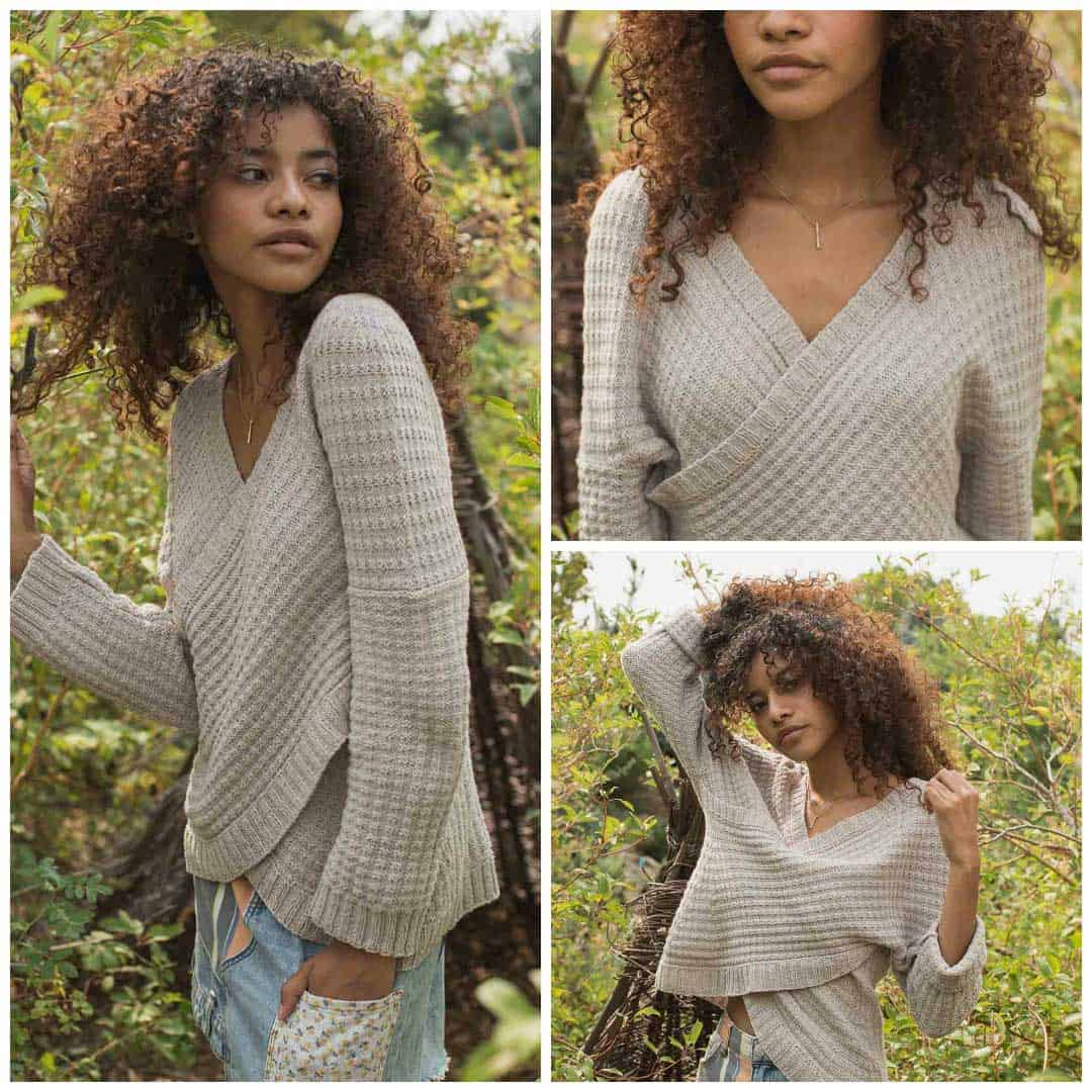 Provence Wrap sweater