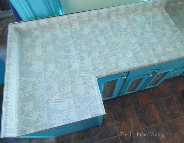 Recipe decoupage countertop