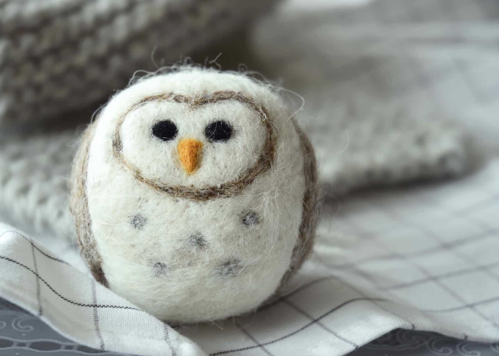 Rounded felted owl