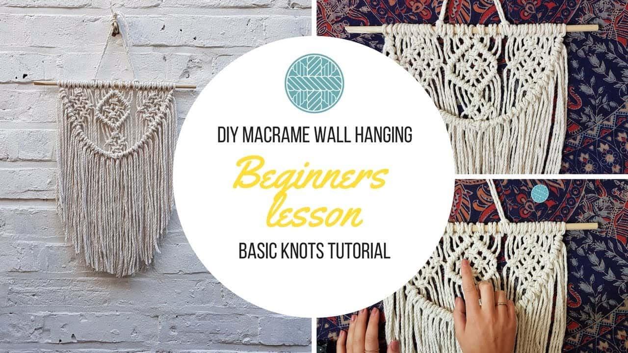 Semi circle beginner macrame wall hanger