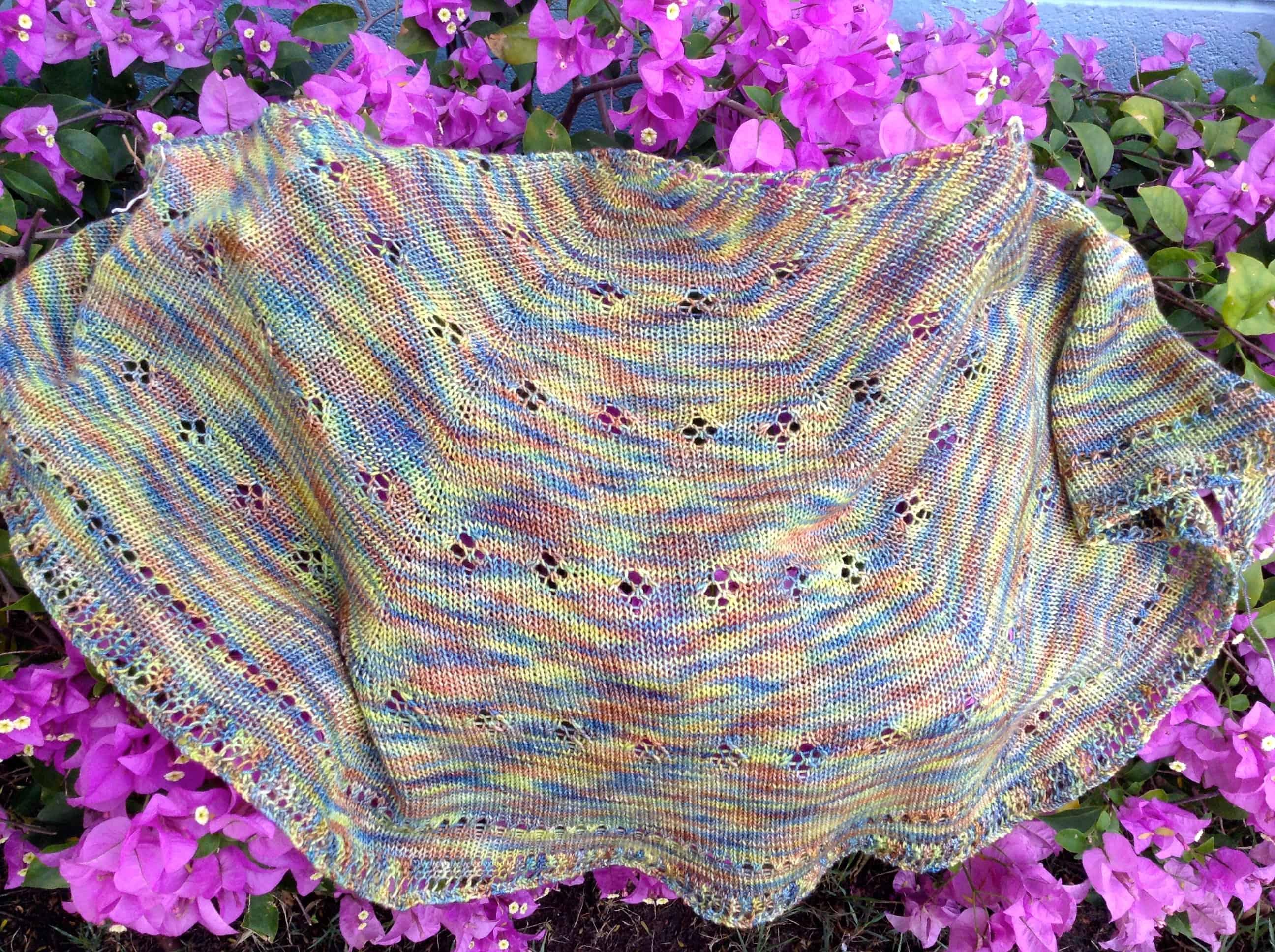 Signs of Spring eyelet shawl