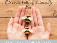 Simple needle felted bees 200x150 15 Simple Needle Felting Tutorials for Beginners