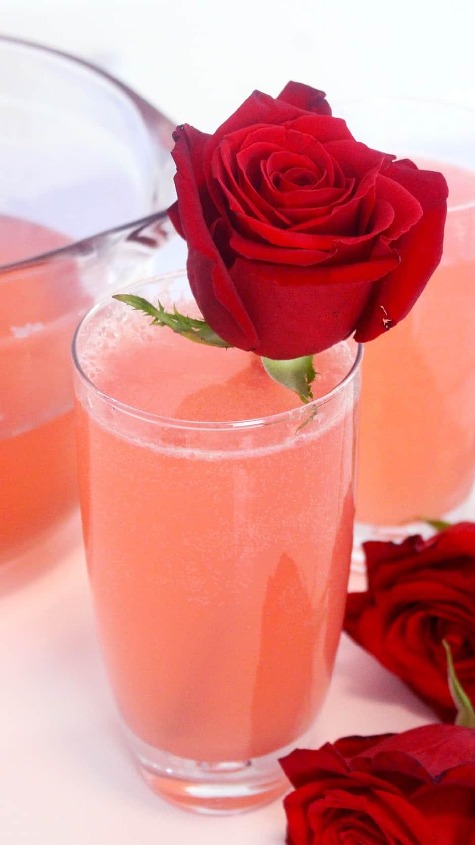 Sparkling rose lemonde