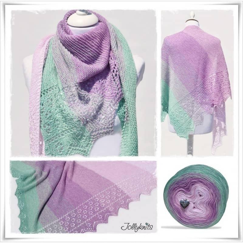 Spring Break lace edge shawl