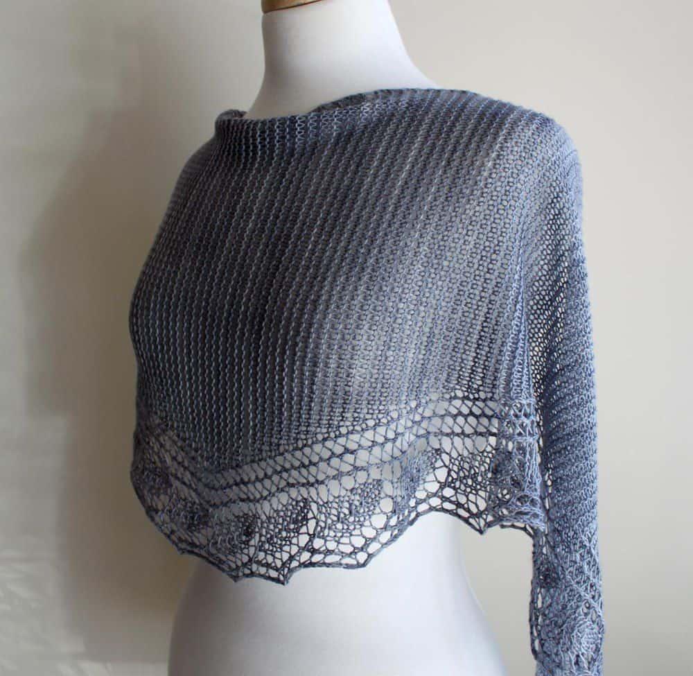 Spring Rain shawl