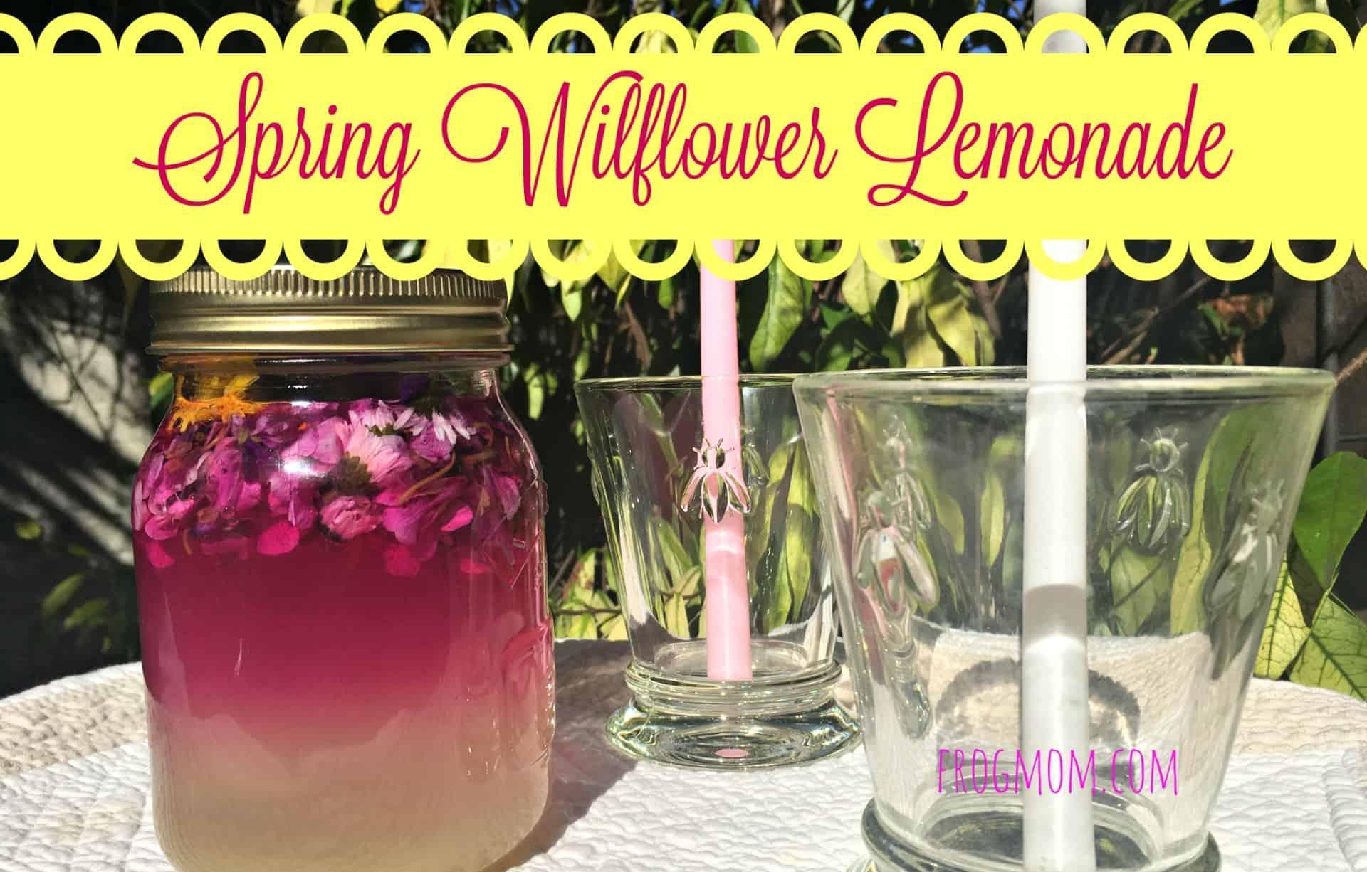 Spring wildflower lemonade