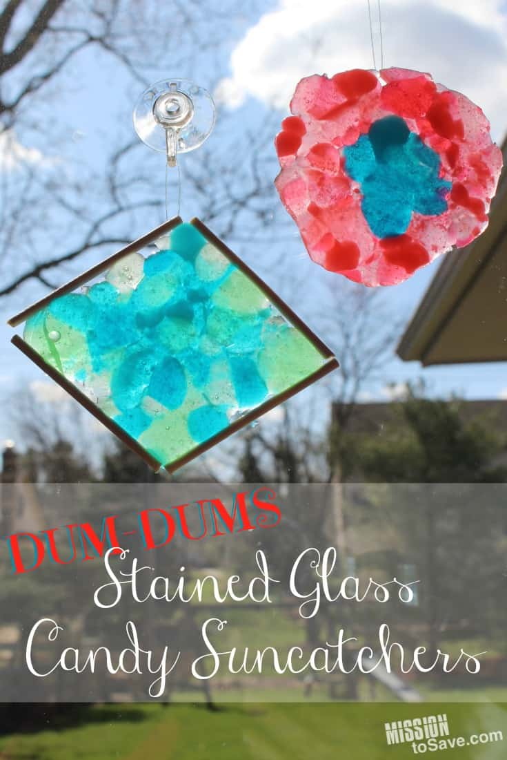 Stained glass candy suncatchers