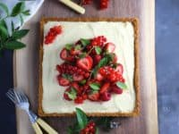 Summer berry tart with lemon mascarpone and cream 200x150 Berry Goodness: 15 Delicious Desserts and Pies for Spring