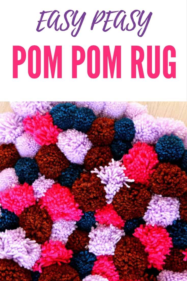 Super easy DIY pom pom rug