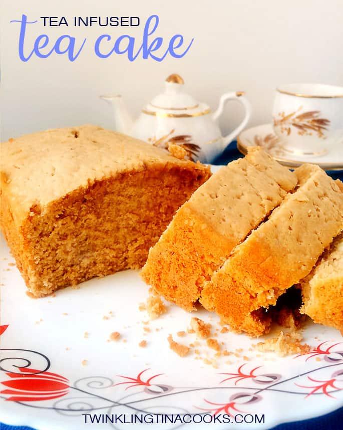 Tea infused tea cake