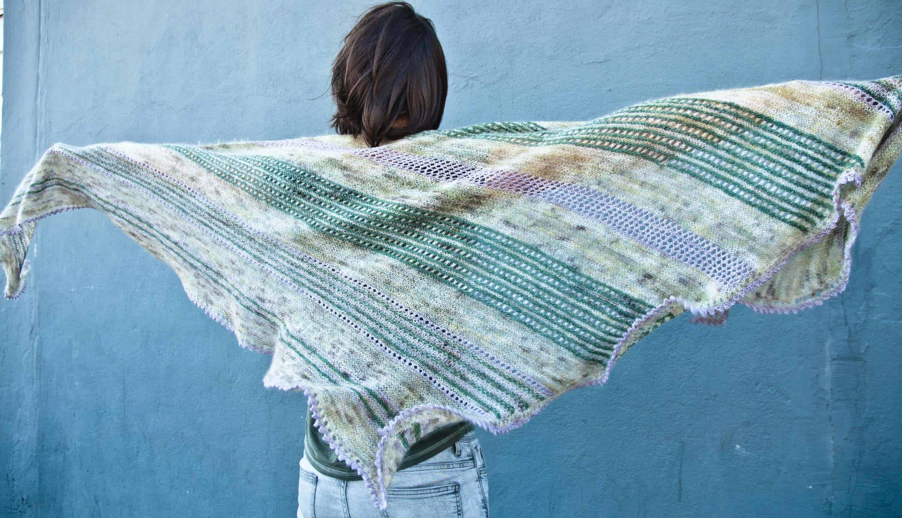 The Joys of Spring shawl