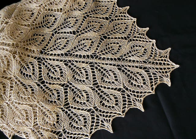 Tree of Light spring shawl