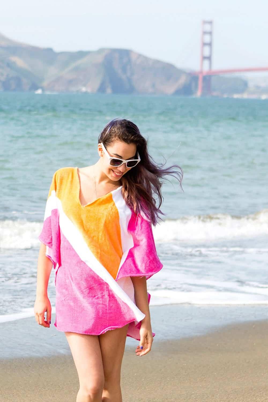 V-neck pullover beach cover up