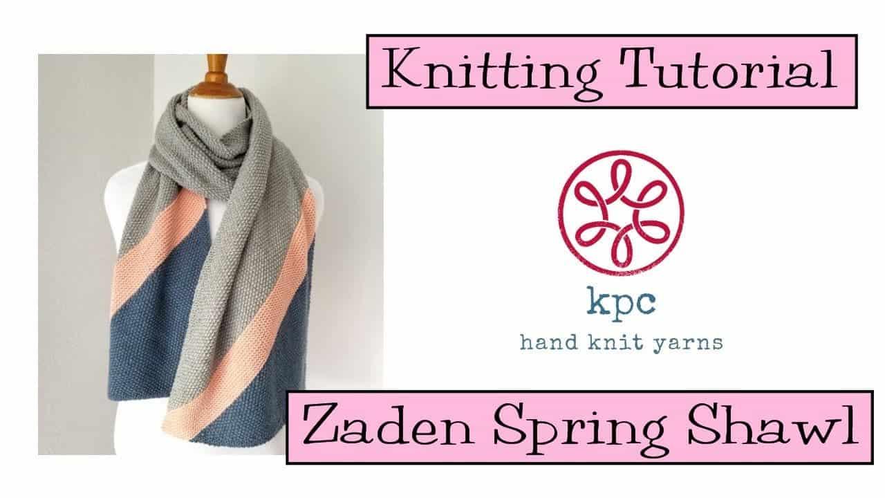Zaden spring shawl