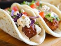 BBQ meatball street tacos 200x150 Mexican Feast with Modern Twist: 15 Creative Taco Recipes