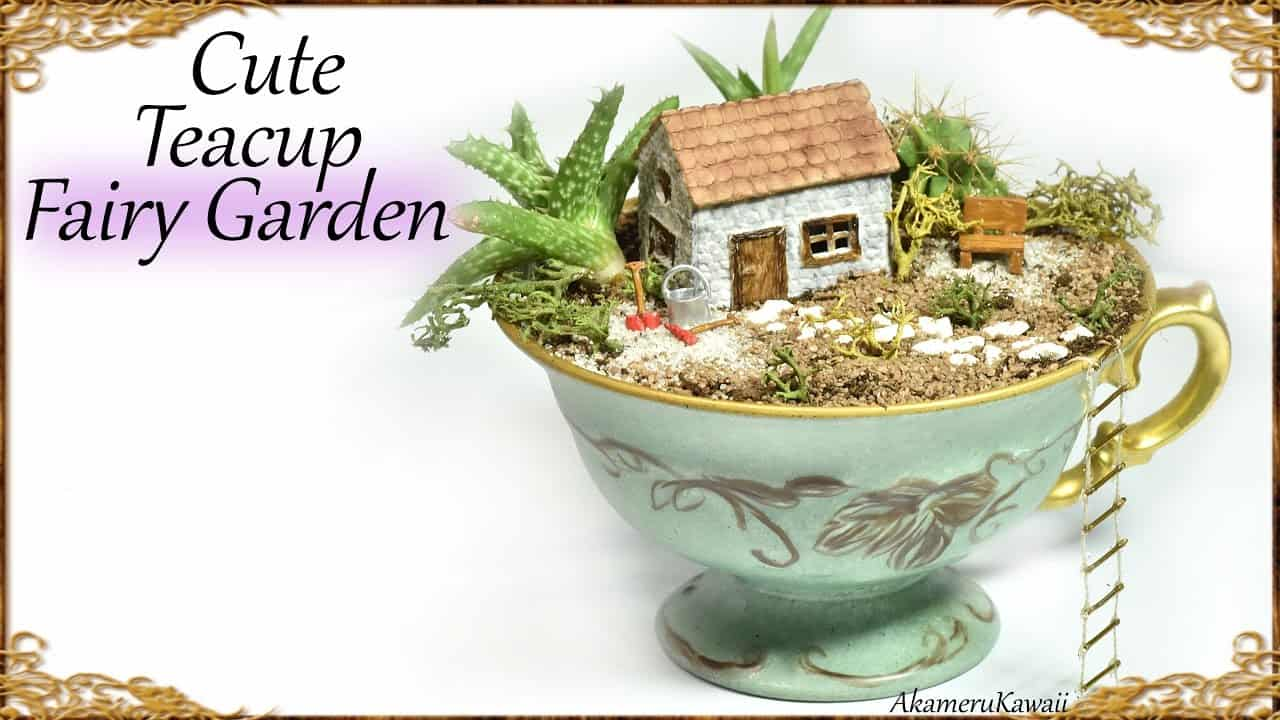 Cute DIY teacup fairy garden