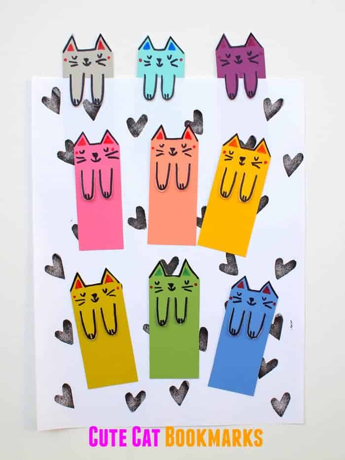 Cute kitty bookmarks