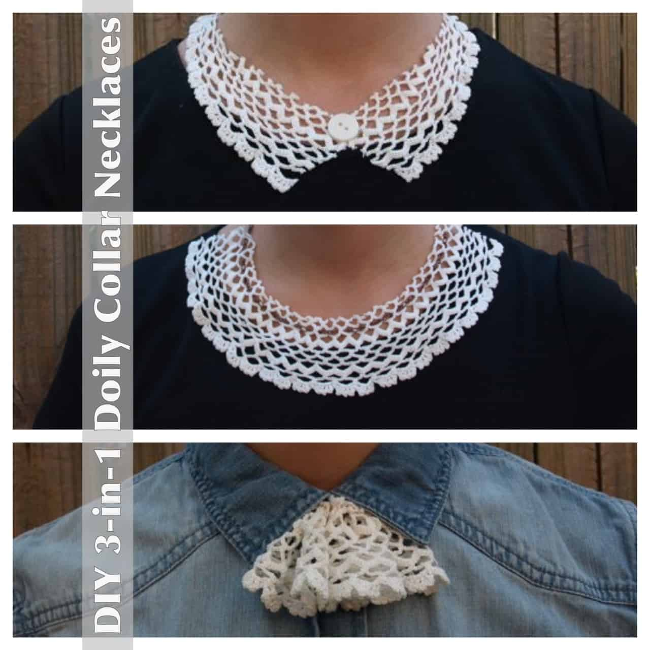 DIY lace doily collar necklace