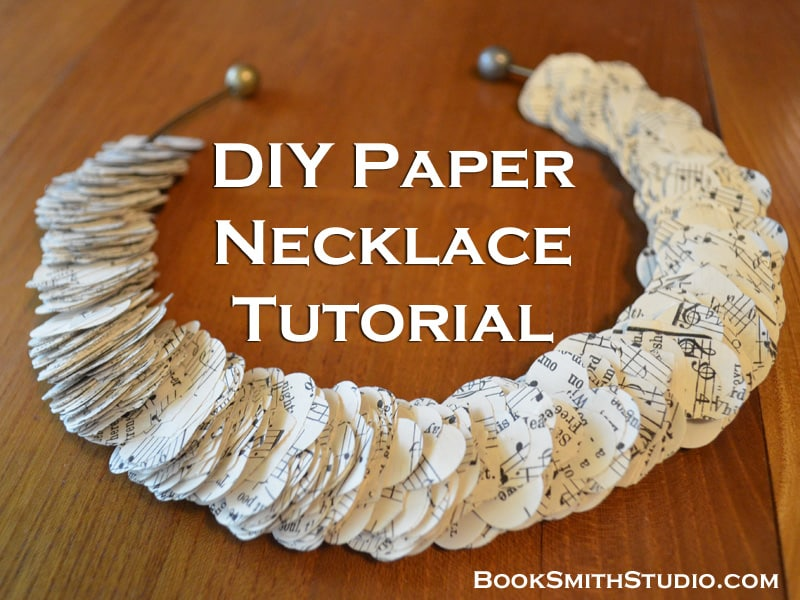 DIY Paper Necklace Tutorial