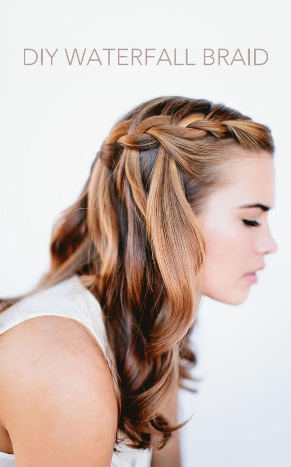 DIY waterfall braid