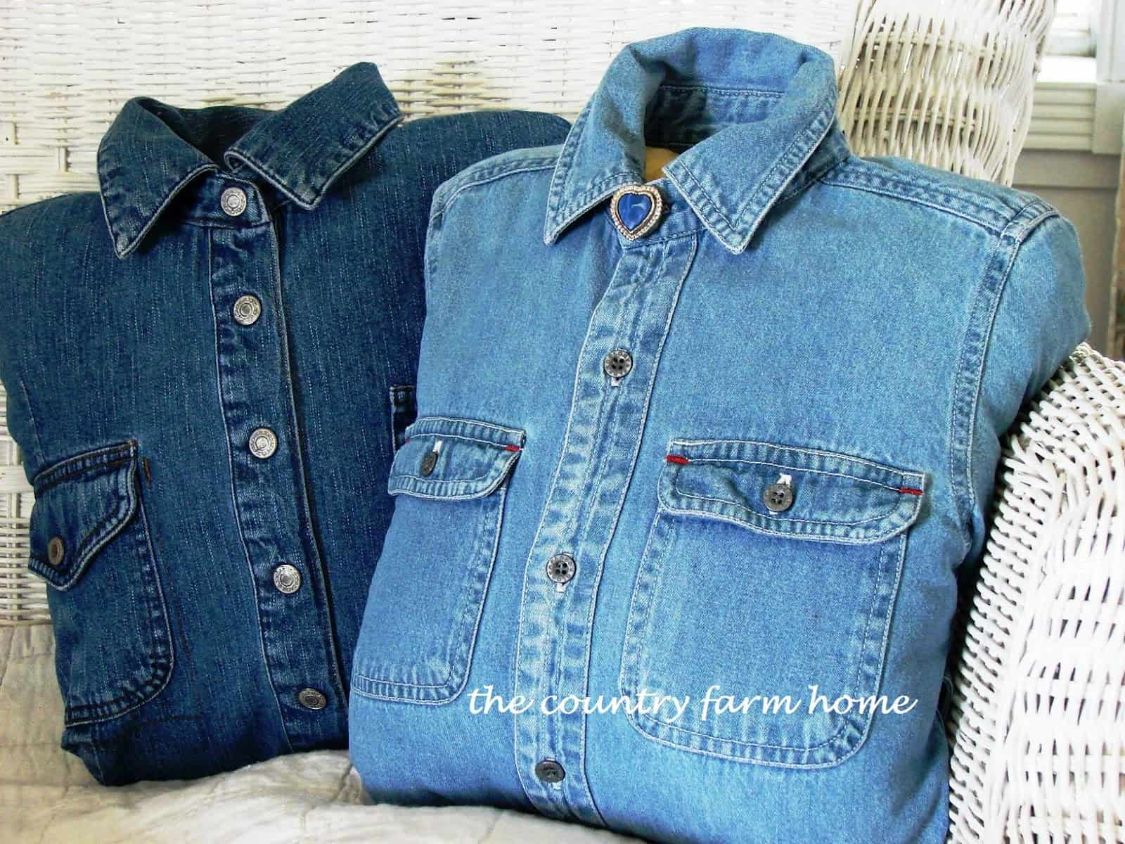 Denim shirt pillow