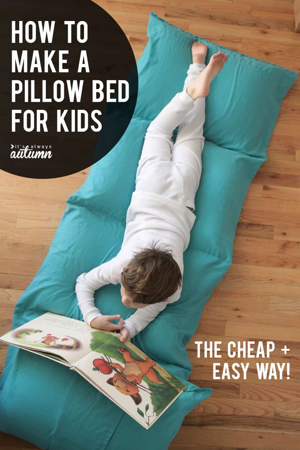 Full pillow bed for kids