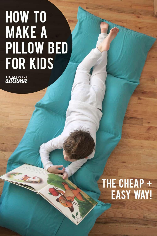 Full pillow bed for kids