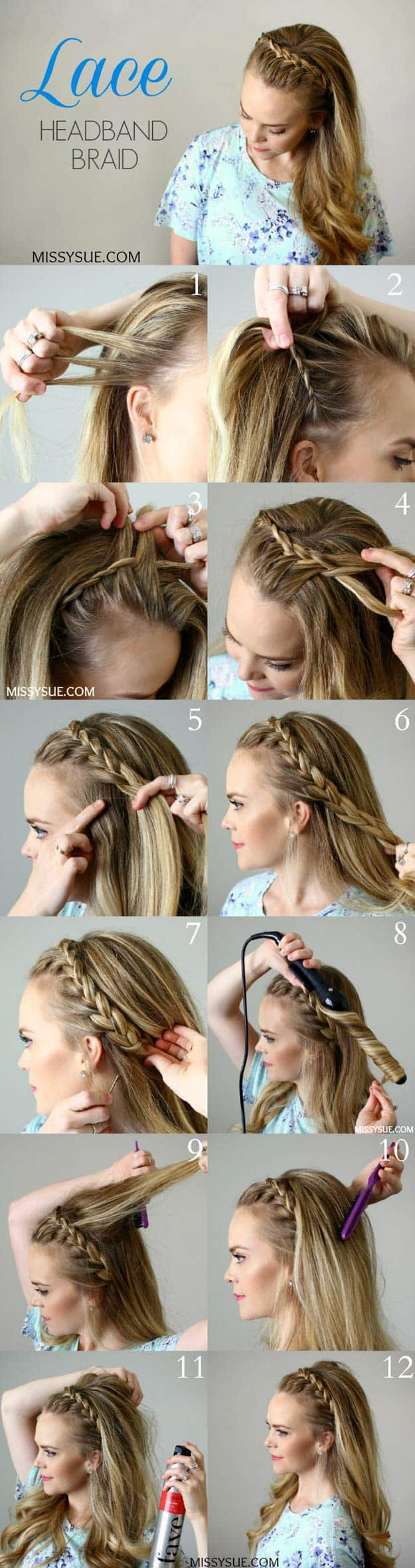Lace hairband braid