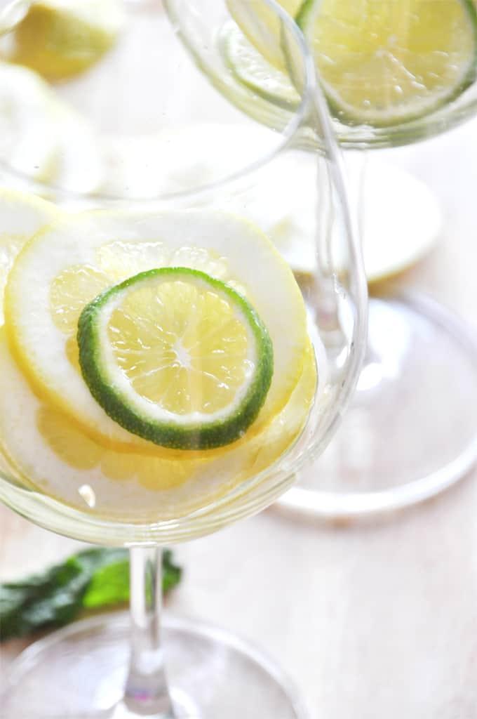 Mint citrus white wine sangria