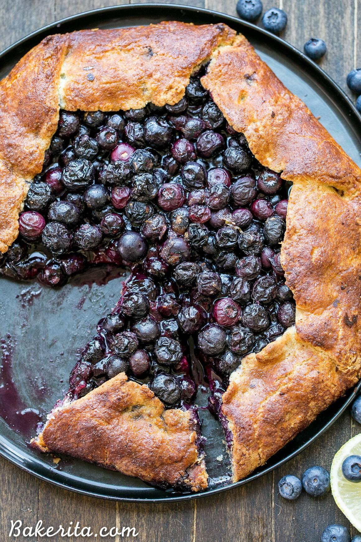 Paleo, gluten free blueberry galette
