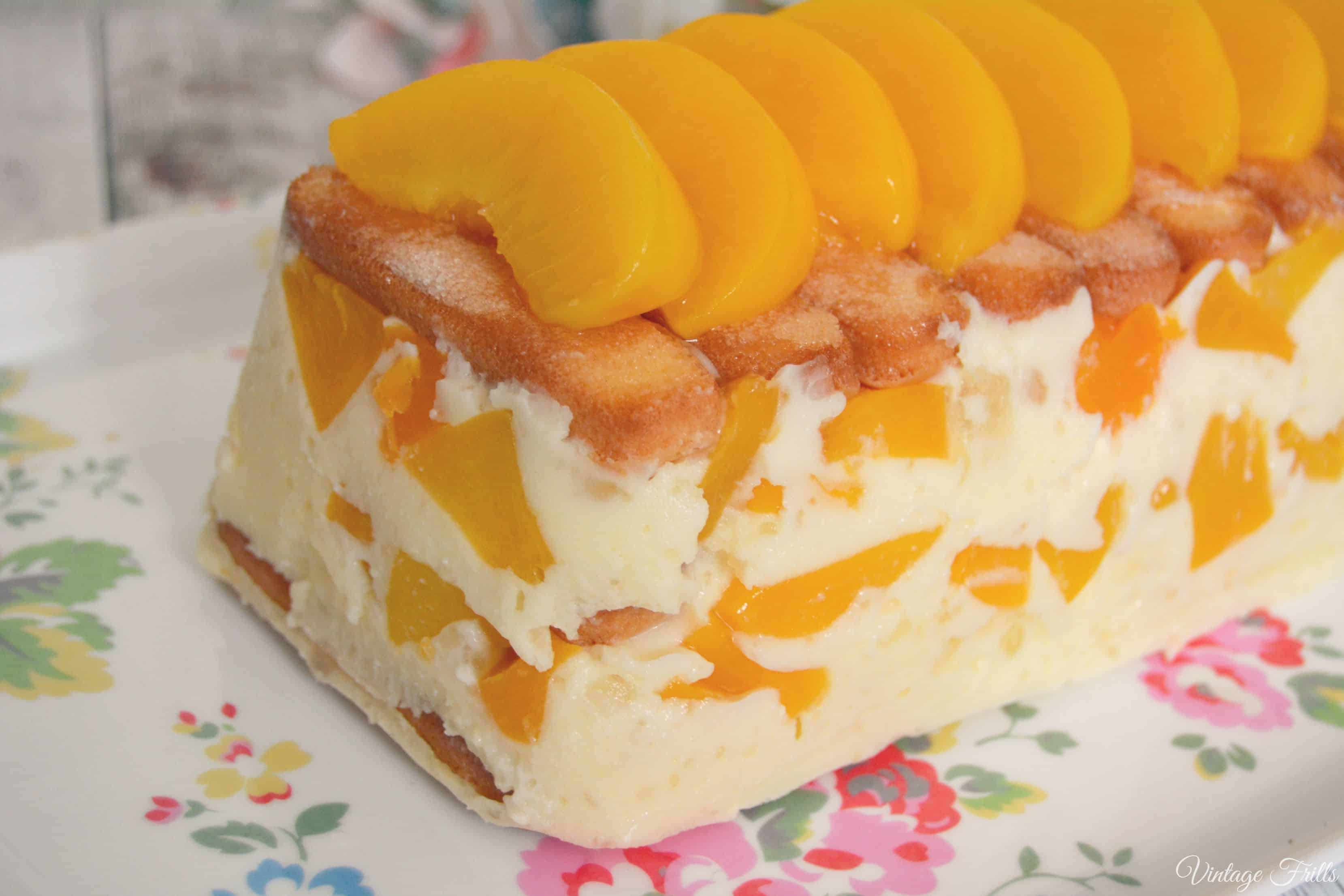 Peach and marshmallow dessert