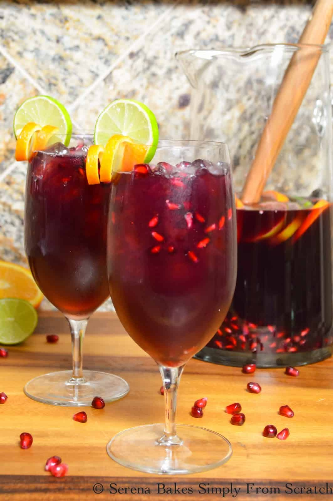 Red wine pomegranate sangria