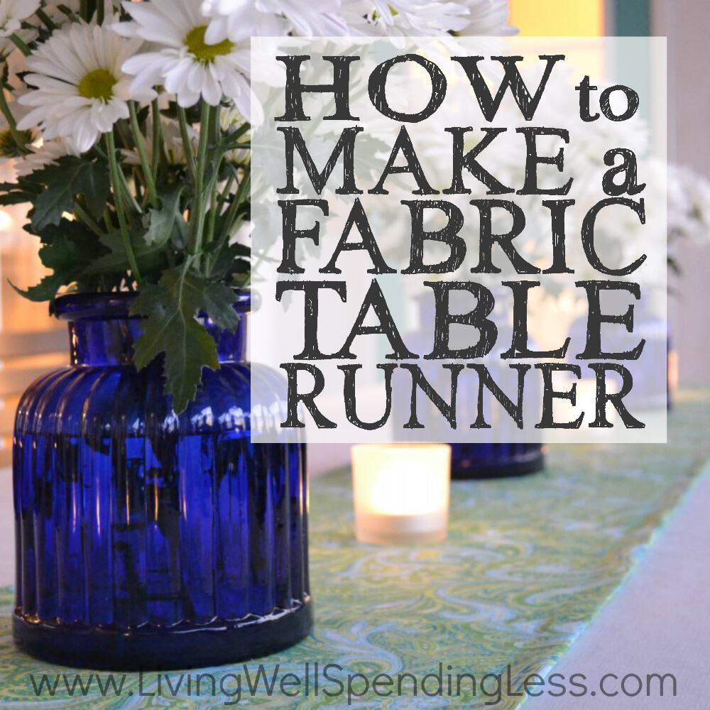 Simple fabric table runner