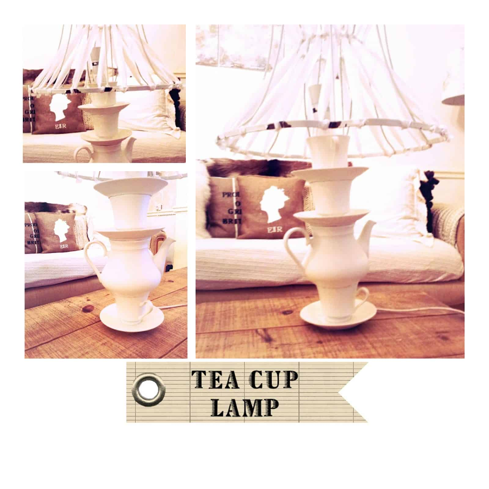 Stacked teacup lamp