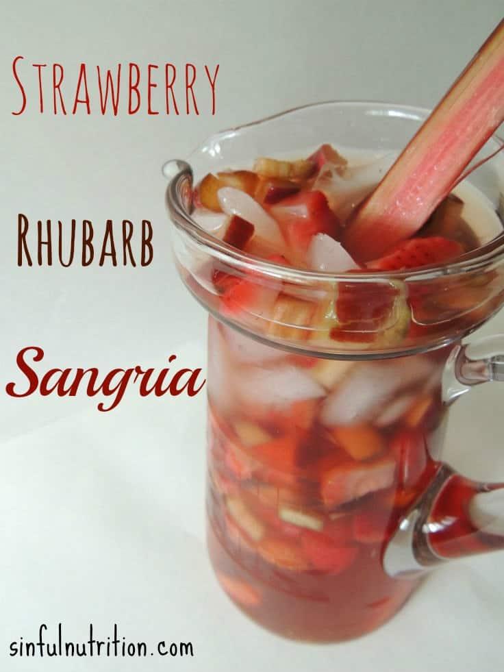 Strawberry rhubarb sangria