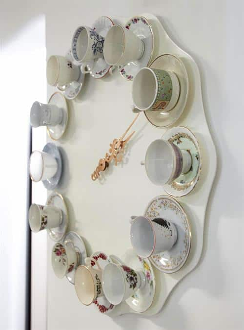 Stunning working teacup clock