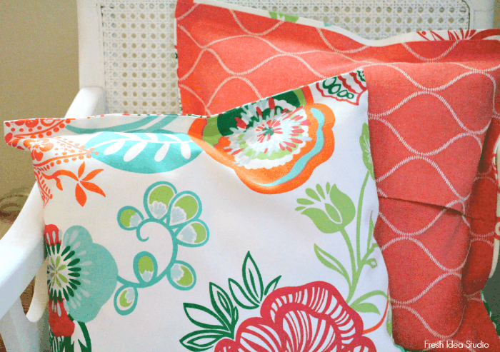 Super easy no-sew pillow cover