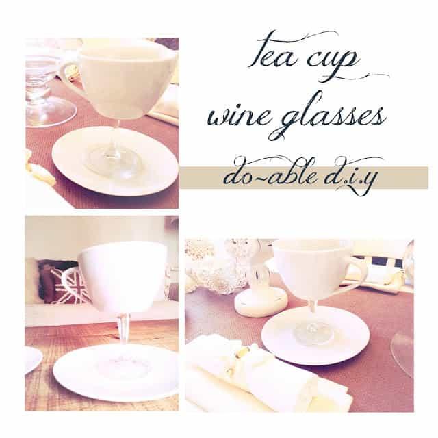 Teacup wine glasses