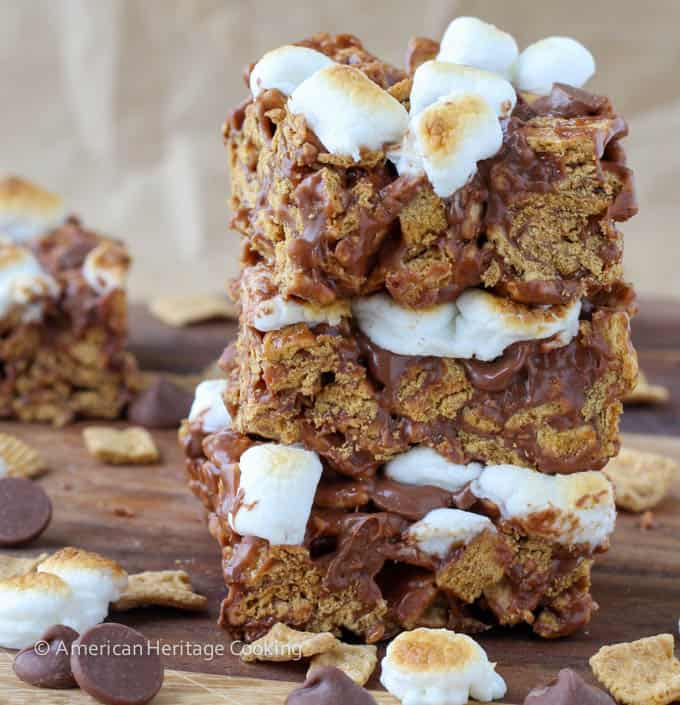 Toasted marshmallow Golden Graham S'mores bars