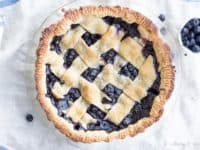 Vegan blueberry pie 200x150 Just Yummy: 15 Scrumptious Desserts Made with Blueberries