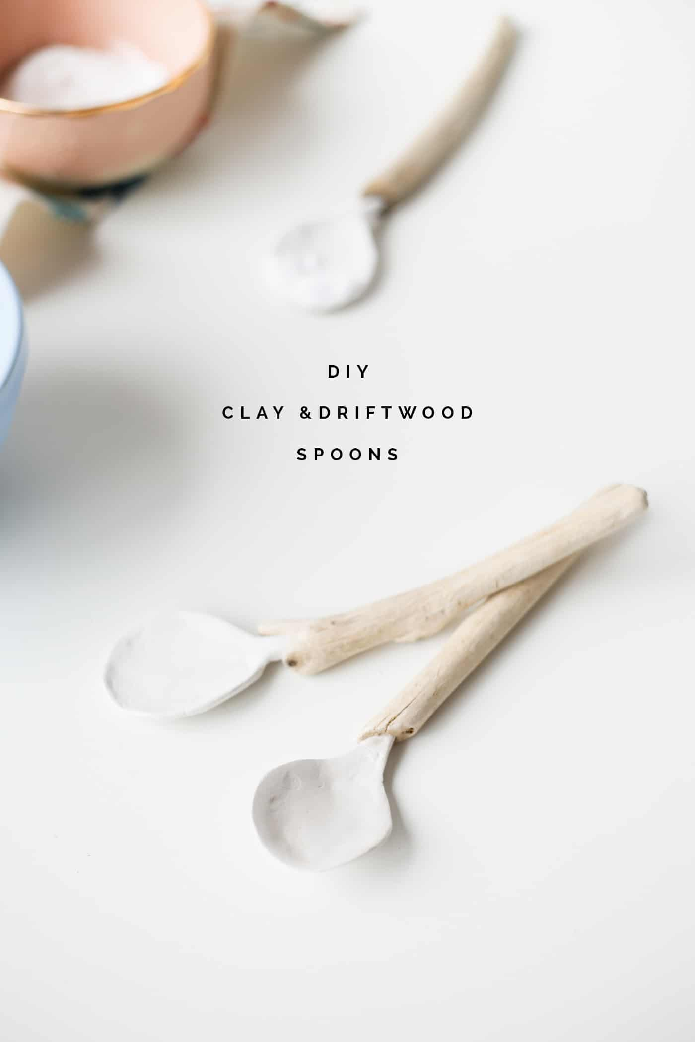 Clay and driftwood spoons