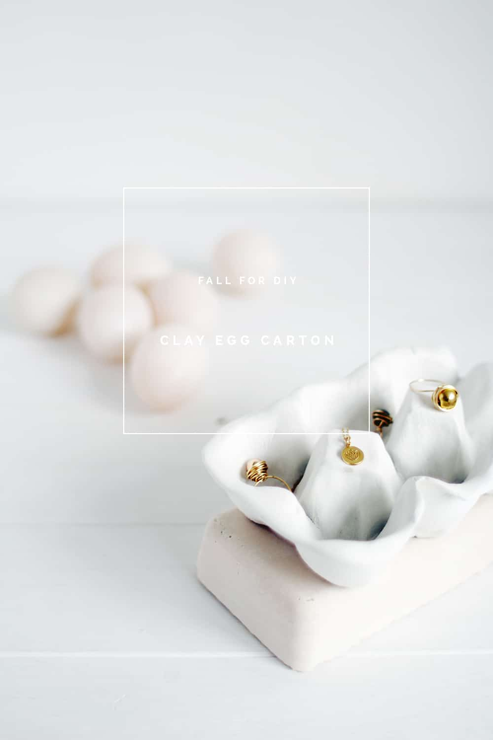 Clay egg carton for jewelry 15 DIY Projects Made from Clay