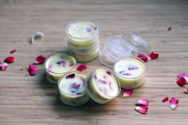 Coconut rose lip balm
