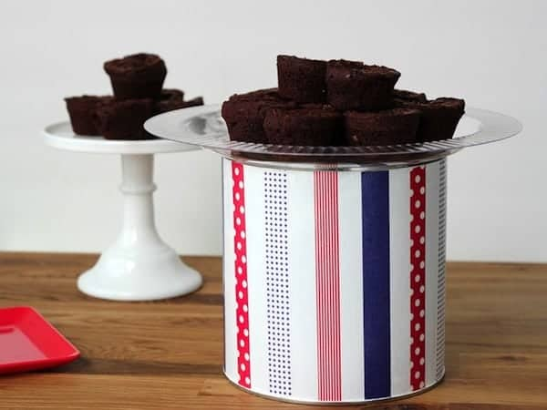 Coffee can cake plate stand