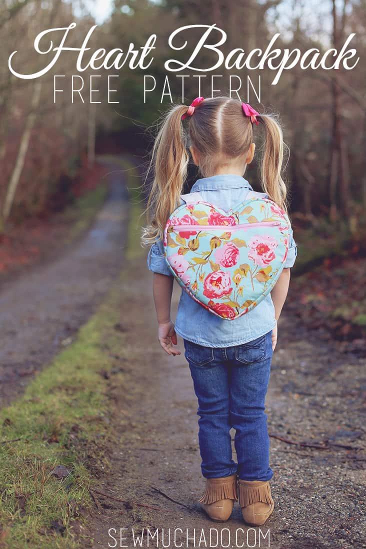 Cute heart backpack pattern from scratch