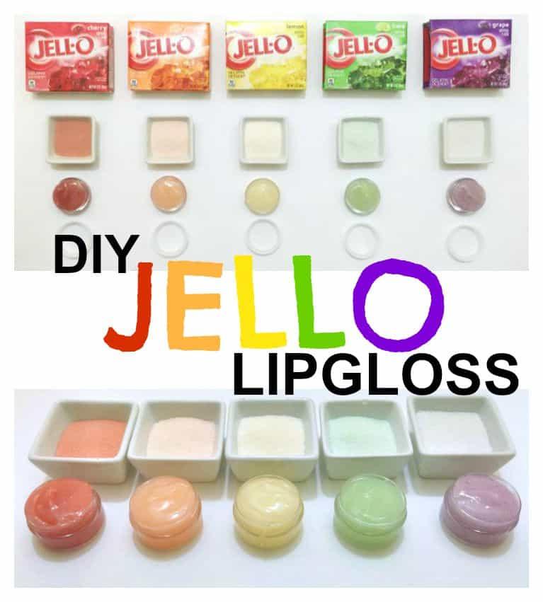 DIY Jello lip gloss 15 Best Homemade Lip Gloss Tutorials