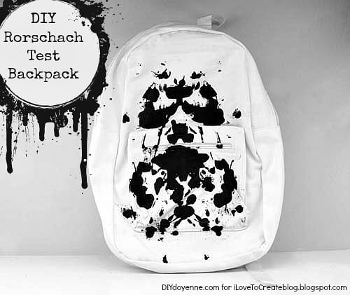 DIY Rorschach Test inspired backpack